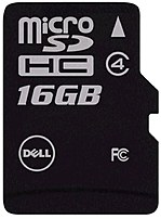 Image of Dell SNPSDC4/16GAM 16 GB Class 4 microSDHC Flash Memory Card with Adapter
