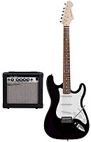 Image of Spectrum Pro Series AIL278A Electric Guitar with Amplifier Pack - Black/White