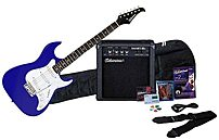 Image of Silvertone SS11 SAK-SS11PAK-CB Electric Guitar With Amplifier Package - Cobalt Blue
