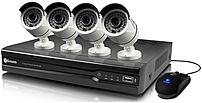 Swann 8-Channel, 4-Camera Indoor/Outdoor Wired 2TB DVR Surveillance System Black/white SWNVK-874004-US