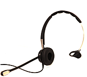 Image of Jabra BIZ 2400 II Headset - Mono - Quick Disconnect - Wired - Gold Plated - Over-the-head - Monaural - Supra-aural - Noise Cancelling Microphone 2403-820-205