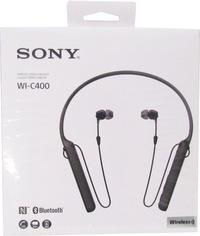 Sony C400 Wireless Behind-the-Neck In Ear Headphones Black WIC400/B