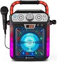 Image of Singing Machine SML682BTBK Groove Cube Karaoke System - Black