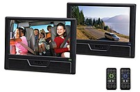 Image of RCA DRC6296 9-inch Twin Screen Mobile DVD Player - Black