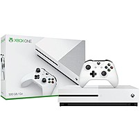 Microsoft Xbox One S (500GB) - Game Pad Supported - Wireless - White - AMD Radeon Graphics Core Next - 3840 x 2160 - 16:9 - 2160p - Blu-ray Disc Player - 500 GB HDD - Gigabit Ethernet - Bluetooth - Wireless LAN - HDMI - USB - Internal - Octa-core (8 Core