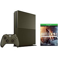 Microsoft Xbox One S Battlefield 1 Special Edition Bundle (1TB) - Game Pad Supported - Wireless - Military Green - AMD Radeon Graphics Core Next - 3840 x 2160 - 16:9 - 2160p - Blu-ray Disc Player - 1 TB HDD - Gigabit Ethernet - - Octa-core (8 Core) 234-0