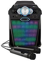 Image of Singing Machine SDL366 Vibe Party Pack Hi-Def Digital Karaoke System with 2 x Microphones - LED Disco Lights - Black