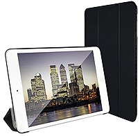UPC 684357655009 product image for SuprJETech 684357655009 Slim-Fit Folio Smart Case for iPad Mini 1, 2 and 3 - Bla | upcitemdb.com