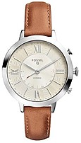Fossil FTW5012 Hybrid Q Jacqueline Luggage Leather Smartwatch - Brown