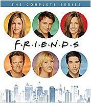 In the 1994 comedy series on TV, Friends, Rachel Green  Jennifer Aniston , Ross Geller  David Schwimmer , Monica Geller  Courteney Cox , Joey Tribbiani  Matt LeBlanc , Chandler Bing  Matthew Perry  and Phoebe Buffay  Lisa Kudrow  are all friends, living off of one another in the heart of New York. Over the course of eight years, this average group of buddies go through massive mayhem, family trouble, past and future romances, fights, laughs, tears and surprises as they learn what it really means to be a friend. This box set on DVD includes all 10 seasons of the hit comedy TV series.