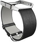 Fitbit Sleep/Activity Monitor Wristband - Black - Leather, Stainless Steel FB159LBBKL