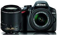 Nikon 13493 D3200 24.2 Megapixels DSLR Camera with 18-55mm and 55-200mm VR Lenses Kit - 3-inch LCD Display - Black 13493
