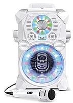 Image of Singing Machine SDL485W REMIX High-Definition Digital Karaoke System with Resting Tablet Cradle and Microphones - White