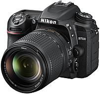 "Nikon D7500 20.9 Megapixel Digital SLR Camera with Lens - 18 mm - 140 mm - 3.2"" Touchscreen LCD - 16:9 - 7.8x Optical Zoom - Digital (IS) - i-TTL - 5568 x 3712 Image - 3840 x 2160 Video - HDMI - PictBridge - HD Movie Mode - Wireless LAN 1582 1582"