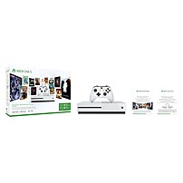 Microsoft Xbox One S 500GB Console - Starter Bundle - Game Pad Supported - Wireless - AMD Radeon Graphics Core Next - 3840 x 2160 - 16:9 - 2160p - Blu-ray Disc Player - 500 GB HDD - Gigabit Ethernet - Bluetooth - Wireless LAN - HDMI - Octa-core (8 Core)