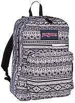 JanSport A3EN20GT Digibreak 2 Backpack for 15-inch Laptop - Black, White Jazzy Geo