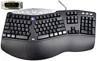 Applied Auto Adesso 124-154977-001 TRU-FORM Media Ergonomic Keyboard - 113 KEY Layout - P...