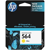 Image of HP 564 Original Ink Cartridge - Inkjet - 300 Pages - Yellow - 1 Each CB320WN