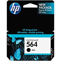 Image of HP 564 Original Ink Cartridge - Inkjet - 250 Pages - Black - 1 Each CB316WN