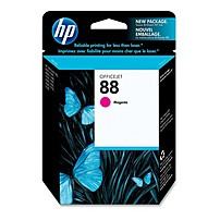 Image of HP 88 Original Ink Cartridge - Single Pack - Inkjet - Standard Yield - 1000 Pages - Magenta - 1 Each C9387AN140
