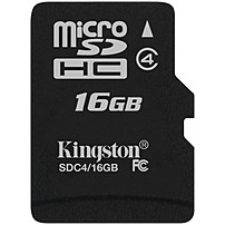 Image of Kingston SDC4/16GBSP 16 GB microSDHC - 1 Card/1 Pack
