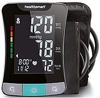 HealthSmart Premium Series 04-655-001 Upper Arm Talking Automatic Digital Blood Pressure Monitor - Black, Gray