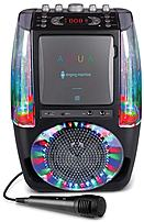 Image of Singing Machine SML605BK Agua Dancing Water Fountain Karaoke System with LED Disco Lights and Microphone - Black