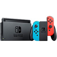 """Image of Nintendo Switch with Neon Blue and Neon Red Joy-Con - 6.2"""" Active Matrix TFT Color LCD - Black, Neon Blue, Neon Red - 4-way - 1280 x 720 - NVIDIA - 4 GB Memory NVIDIA - Wireless LAN - Bluetooth - Battery Rechargeable - Octa-core (8 Core) HACSKABAA"""