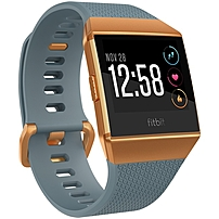 Fitbit Ionic Watch - Wrist - Optical Heart Rate Sensor, Accelerometer, Gyro Sensor, Altimeter, Ambient Light Sensor - Sleep Monitor, Music Player, Text Messaging, Calendar, Clock Display, Alarm - Hear