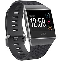 Fitbit Ionic Watch - Wrist - Optical Heart Rate Sensor, Accelerometer, Gyro Sensor, Altimeter, Ambient Light Sensor - Sleep Monitor, Music Player, Text Messaging, Calendar, Clock Display, Alarm - Hear