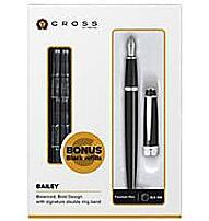 Cross Bailey AT0456H-7MS/18 Fountain Pen - Medium Point - 0.43 mm -