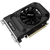 PNY NVIDIA GeForce GTX 1050 Ti 4GB GDDR5 PCI Express 3.0 Graphics Card Black VCGGTX1050T4PB