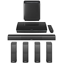 Image of Bose Lifestyle 650 5.1 Home Theater System - Control Console - Black - Dolby Digital, Dolby Digital Plus, Dolby TrueHD, DTS - Bluetooth - Wireless Speaker(s) - Ethernet - HDMI - USB 761683-1110