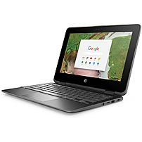 "HP 2-in-1 11.6"" Touch-Screen Chromebook Intel Celeron 4GB Memory 32GB eMMC Flash Memory Smoke gray 11-AE020NR"