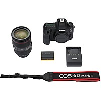 Canon EOS 6D Mark II DSLR Camera with EF 24-105mm f/4L IS II USM Lens Black 1897C009