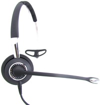 Image of Jabra BIZ 2400, 3-in-1, WB Balance - Mono - Quick Disconnect - Wired - Over-the-head, Behind-the-neck - Monaural - Supra-aural - Noise Canceling 2486-820-209