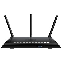 NETGEAR Wireless-AC1750 Dual-Band Gigabit Router with 4-Port Ethernet Switch Black R6400-100NAS