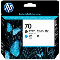 Image of HP 70 Original Printhead - Single Pack - Inkjet - Standard Yield - Matte Black, Matte Cyan - 1 Each C9404A