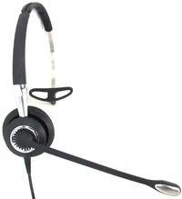 Image of Jabra BIZ 2400 II QD Mono Headband, Ultra Noise Canceling, LS - Mono - Quick Disconnect - Wired - 300 Hz - 3.40 kHz - Over-the-head - Monaural - Supra-aural - Noise Cancelling Microphone 2406-720-209