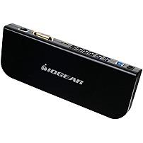 Image of IOGEAR USB 3.0 Universal Docking Station - for Notebook/Desktop PC - USB - 6 x USB Ports - 4 x USB 2.0 - 2 x USB 3.0 - Network (RJ-45) - HDMI - DVI - Microphone - Wired GUD300