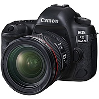 Canon EOS 5D Mark IV DSLR Camera with 24-70mm f/4L IS USM Lens Black 1483C018