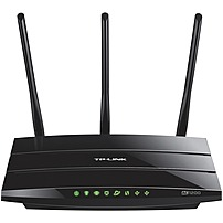 TP-LINK Wireless-AC1200 Dual-Band Wi-Fi Router Black ARCHER C1200