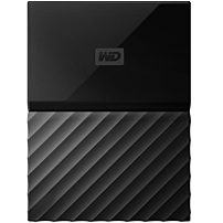 WD My Passport for Mac 2TB External USB 3.0 Portable Hard Drive with Hardware Encryption Black WDBLPG0020BBK-WESE