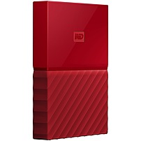 WD My Passport 2TB External USB 3.0 Portable Hard Drive Red WDBYFT0020BRD-WESN
