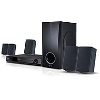 Image of LG BH5140S 5.1 3D Home Theater System - 500 W RMS - Blu-ray Disc Player - DTS - BD-RE, DVD+RW, DVD-RW, CD-RW - BD Video, DVD Video, AVI, MPEG, MKV, MP4, ASF, WMV, M4V, VOB, 3GP, ... - Ethernet - HDMI - USB - DLNA Certified
