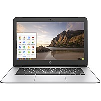 "HP Chromebook 14 G4 14"" LCD Chromebook   Intel Celeron N2840 Dual core  2 Core  2.16 GHz   4 GB DDR3L SDRAM   16 GB SSD   Chrome OS  English    1366 x 768   Intel HD Graphics DDR3L SDRAM   Bluetooth   English Keyboard   Front Camera Webcam   IEEE 802.11a b g n ac   HDMI   1 x USB 3.0 Ports   8.25 Hour Battery Run Time"