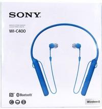 Sony C400 Wireless Behind-the-Neck In Ear Headphones Blue WIC400/L