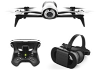 Image of Parrot BeBop 2 PF726203V2 Drone With FPV Bundle - White Drone - Black Headset