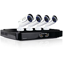 Night Owl 8-Channel, 4-Camera Indoor/Outdoor Wired 1080p 1TB DVR Surveillance System Black/white AHD10-841