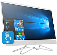 "HP 23.8"" Touch-Screen All-In-One Intel Core i5 12GB Memory 1TB Hard Drive HP Finish In Snow White 24-F0060"